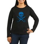 Blue Jolly Cropper Women's Long Sleeve Dark T-Shir