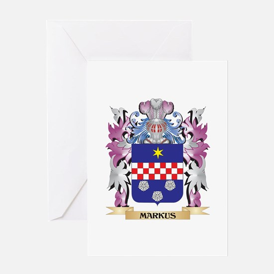 Markus Coat of Arms - Family Crest Greeting Cards