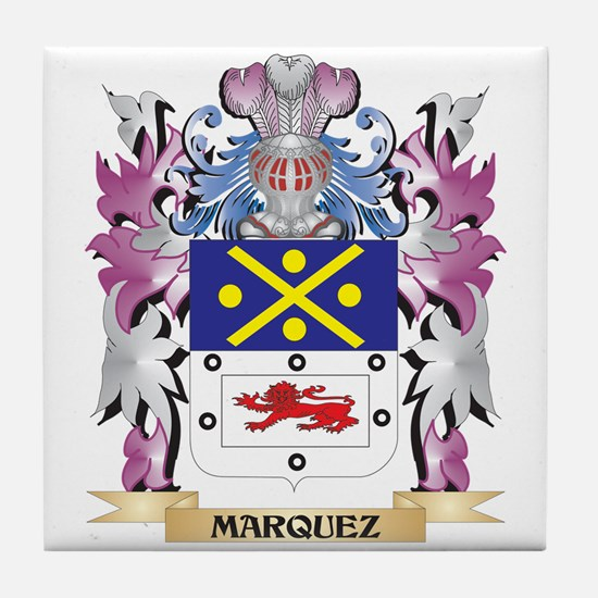 Marquez Coat of Arms - Family Crest Tile Coaster