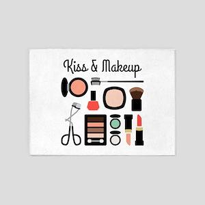 Kiss & Makeup 5'x7'Area Rug