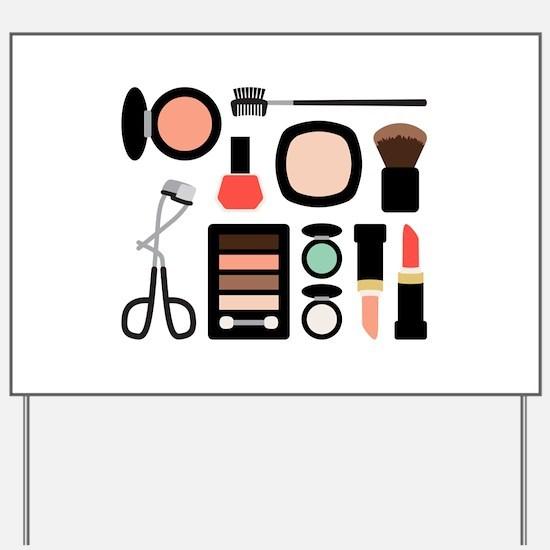 Variety Of Makeup Yard Sign
