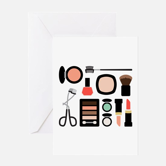 Variety Of Makeup Greeting Cards