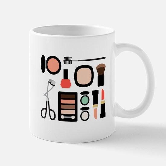 Variety Of Makeup Mugs