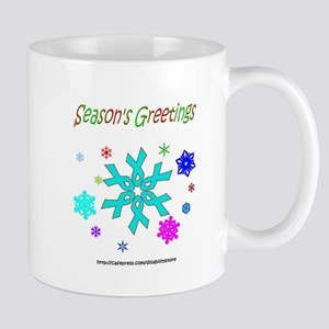 Light Blue Ribbon Snowflake Mug