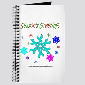 Light Blue Ribbon Snowflake Journal