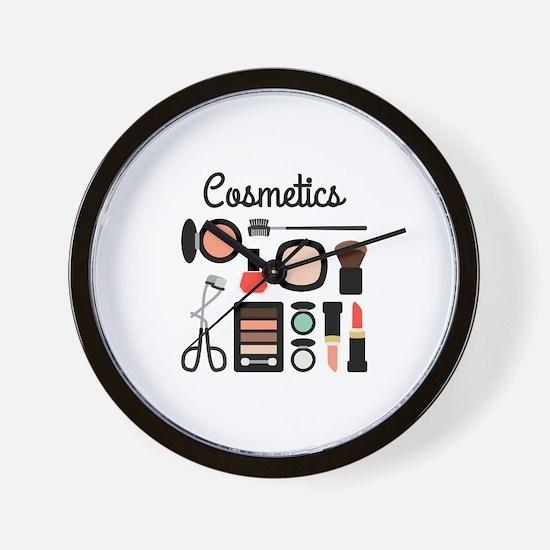 Assorted Cosmetics Wall Clock