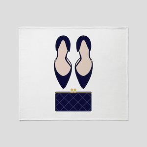 High Heels & Clutch Throw Blanket