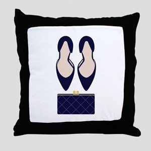 High Heels & Clutch Throw Pillow