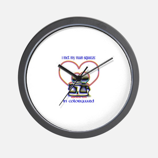 colorguard lovers Wall Clock
