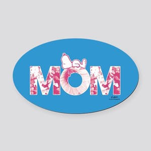 Snoopy - Mom Full Bleed Oval Car Magnet