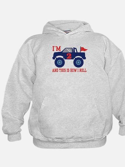 2nd Birthday Monster Truck Hoodie