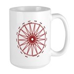 Red 3 Heptadecagram 15 Oz Ceramic Large Mugs