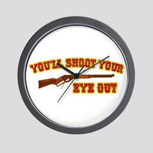Shoot Your Eye Out Wall Clock