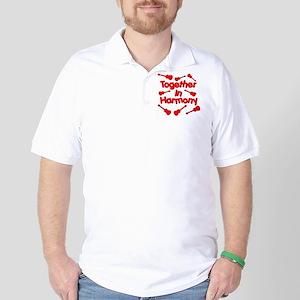 Red Ukulele Golf Shirt