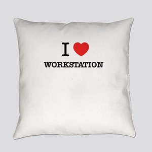 I Love WORKSTATION Everyday Pillow