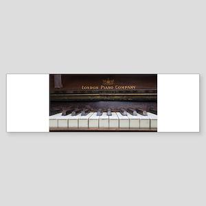Piano keys on Old antique vintage m Bumper Sticker