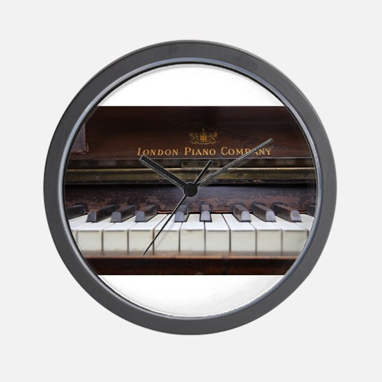 Piano keys on Old antique vintage music Wall Clock