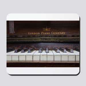 Piano keys on Old antique vintage music Mousepad