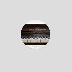 Piano keys on Old antique vintage musi Mini Button