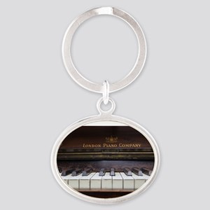 Piano keys on Old antique vintage music Keychains
