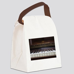 Piano keys on Old antique vintage Canvas Lunch Bag