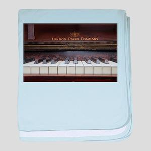 Piano keys on Old antique vintage mus baby blanket