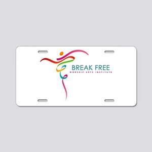 Break-Free Worship Arts Aluminum License Plate