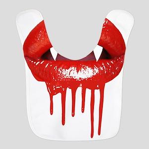Gothic Halloween Vampire Lips Polyester Baby Bib