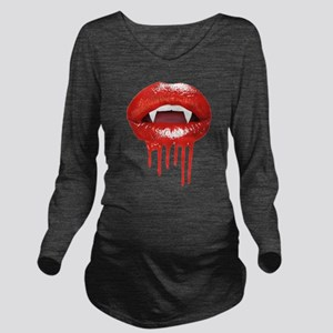 Gothic Halloween Vam Long Sleeve Maternity T-Shirt