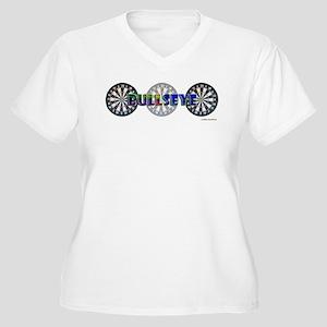 Bullseye Trio Women's Plus Size V-Neck T-Shirt