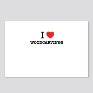 I Love WOODCARVINGS Postcards (Package of 8)
