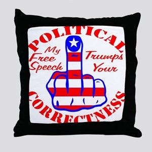 My Free Speech Trumps Throw Pillow