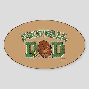 Snoopy - Football Dad Full Bleed Sticker
