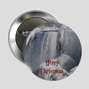 """Niagara Falls Merry Christmas 2.25"""" Button"""