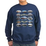 1,000 Foot Freighters On The Sweatshirt (dark)
