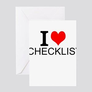 I Love Checklists Greeting Cards