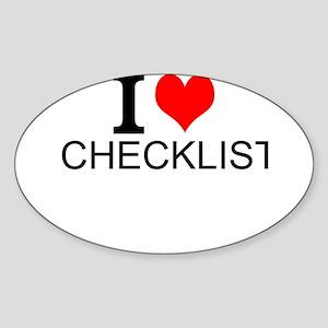 I Love Checklists Sticker