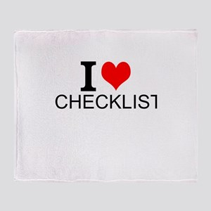 I Love Checklists Throw Blanket