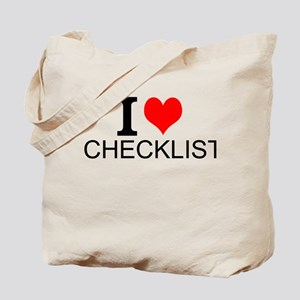 I Love Checklists Tote Bag