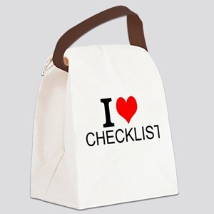 I Love Checklists Canvas Lunch Bag