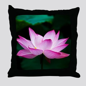 Indian Lotus Flower Throw Pillow