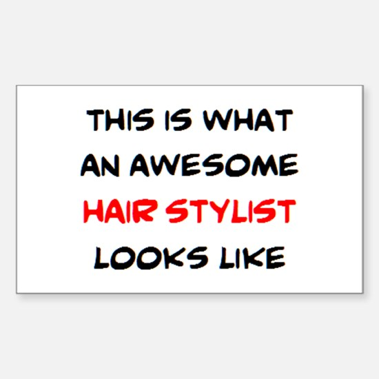 awesome hair stylist Sticker (Rectangle)