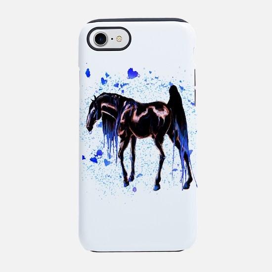 Blue Love Horse PNG iPhone 8/7 Tough Case