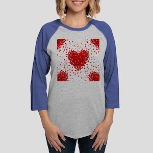 happy valentines day hearts Long Sleeve T-Shirt