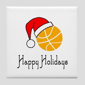 BasketballChick's Happy Holidays Tile Coaster
