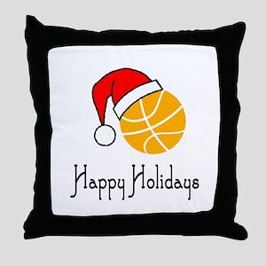 BasketballChick's Happy Holidays Throw Pillow