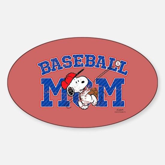 Snoopy Baseball Mom Full Bleed Decal