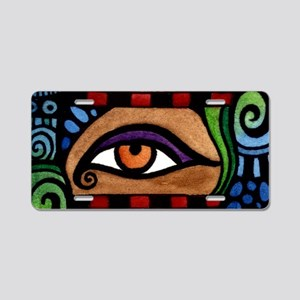 3 Colored Eyes Aluminum License Plate