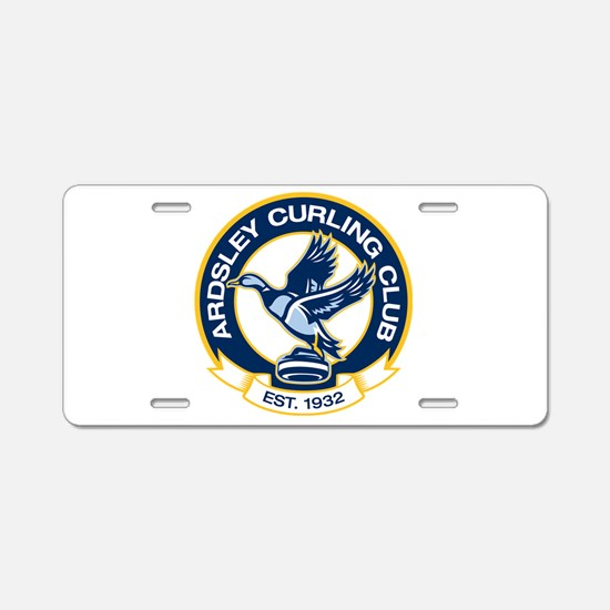 Cute Curling Aluminum License Plate