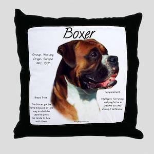 Boxer (natural) Throw Pillow